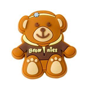 Brownie Rubber Pin Badge Hoodie