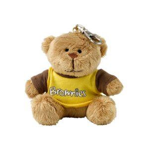 Brownies Teddy Clip Keyring